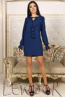 Элегантное платье из крепа с воланом
