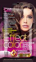 Cтойкая крем-краска для волос «Effect Сolor», цвет темный каштан