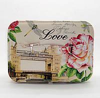 Женская косметичка Роза белого цвета LQQ-720061 большая, фото 1