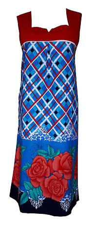 Летний женский трикотажный сарафан р.48-50, фото 2