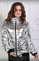 """Женская демисезонная куртка """"Passion"""" из мягкого кожзама"""