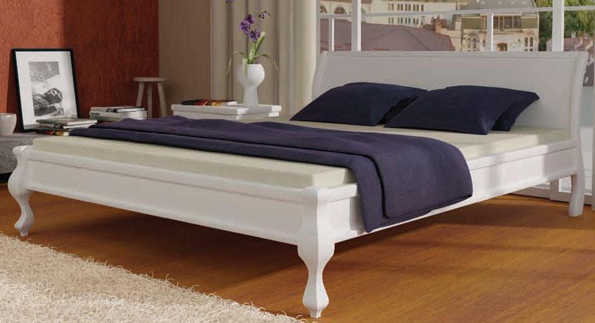 Ліжко дерев'яна Палермо 140х200 Mebigrand сосна біла