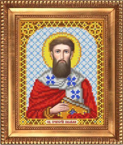 """Схема для вышивки бисером, именная икона """"Святой Григорий Палама"""" И-5144"""