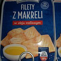 Консервированное филе макрели в масле Marinero, 170 г