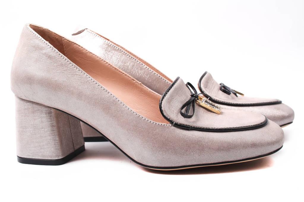 Туфли женские Donna Ricco натуральная кожа, цвет капучино (каблук,  стильные, Турция) 04fcf290739