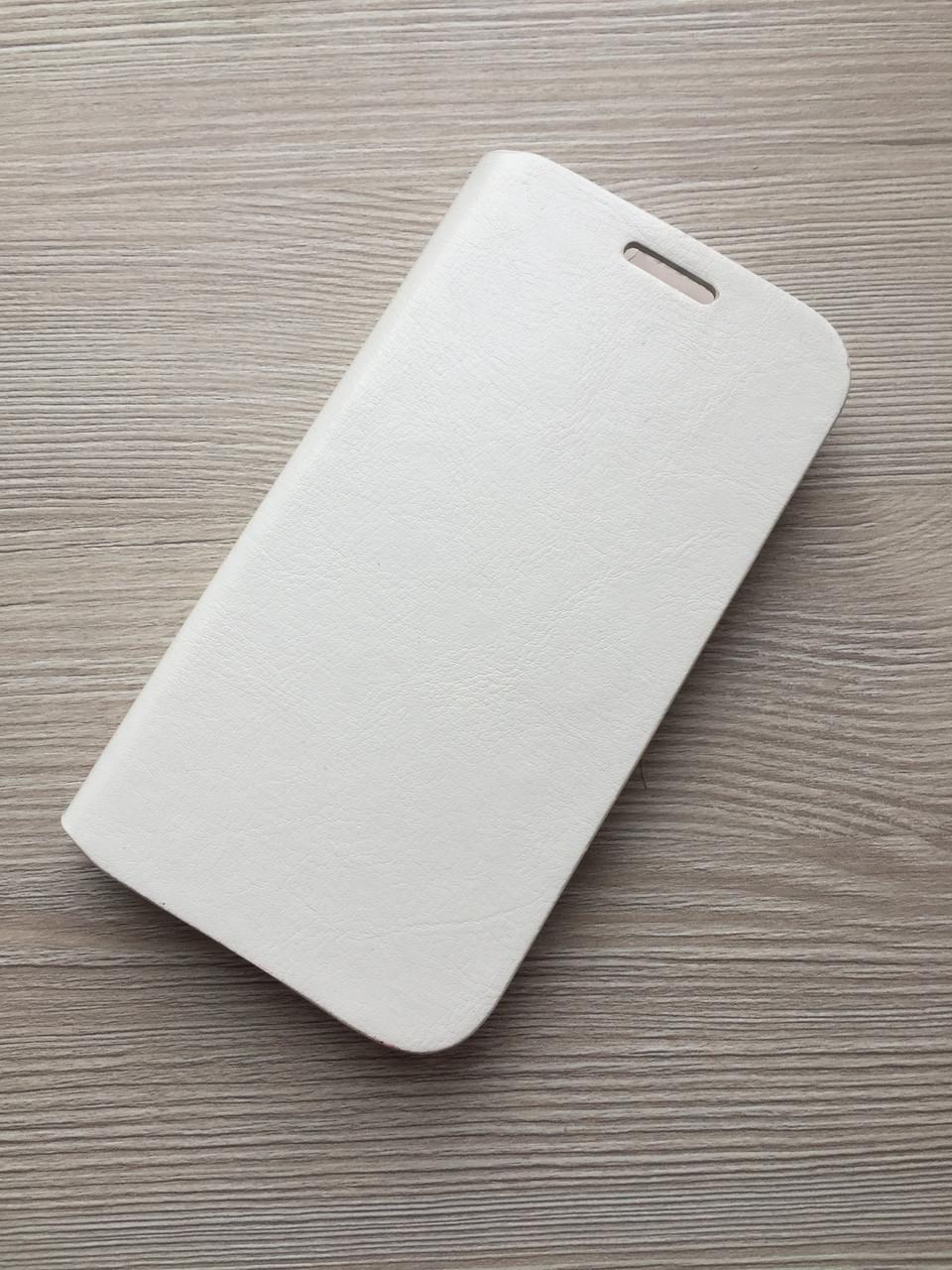 Белая Кожаная книжечка Samsung Galaxy S3 на магните в упаковке