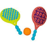 Игровой набор - ПЛЯЖНЫЙ ТЕННИС: ДВА-В-ОДНОМ (ракетки с присосками, мячик)
