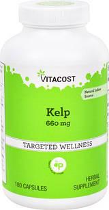 Vitacost Ламинария (Ascophyllum nodosum) Йод натур. в капс  по 660 мг 180 шт