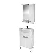 Мини-комплект мебели для ванной комнаты Жемчуг 1-60-1-60 ВанЛанд