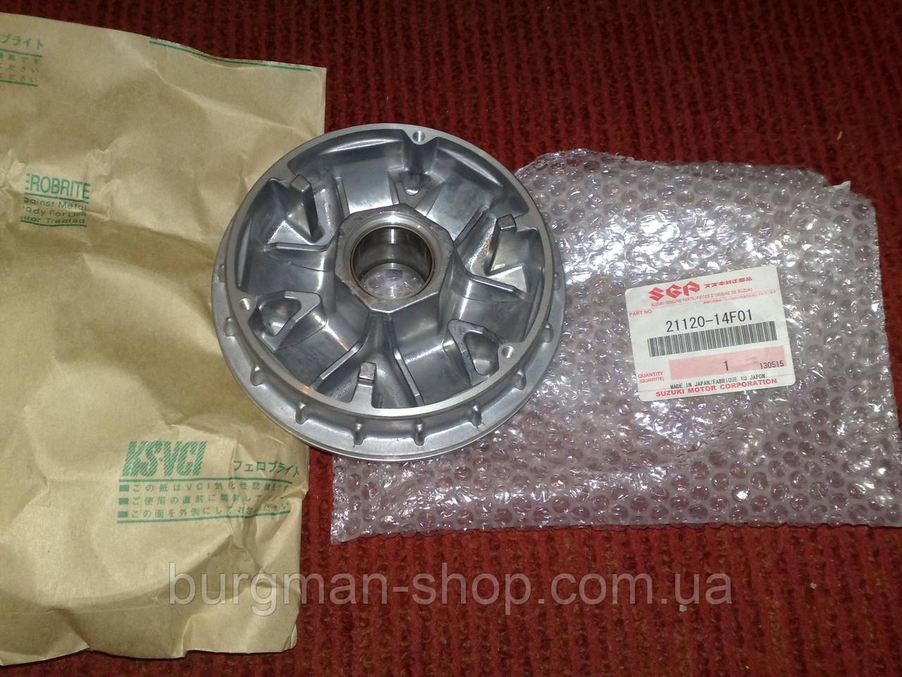 Корпус переднего вариатора 250сс 98-06г Suzuki Burgman SkyWave 21120-14F01