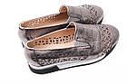 Туфли женские Guero натуральная кожа, цвет бронза (платформа, стильные, комфорт, лето, Турция), фото 5