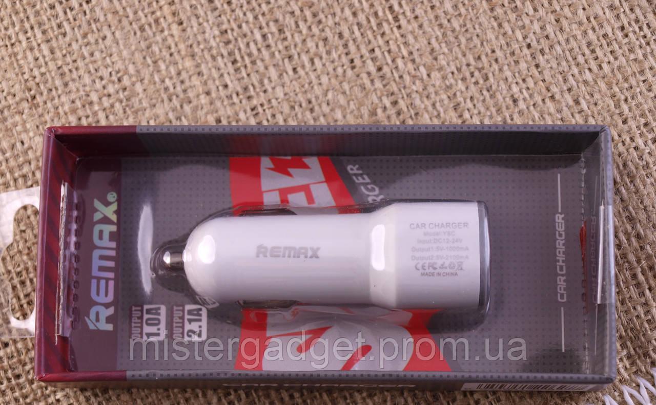 Автомобильный адаптер Remax YSC USB 2А