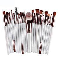 Кисточки, кисти для макияжа / визажа набор из 20 шт Белые, фото 1