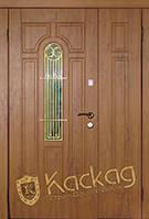 Дверь входная полуторная с ковкой и энергосберегающим стеклопакетом