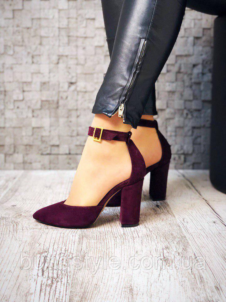 Шикарные туфли Olimpia. удобная колодка, сливовые