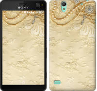 """Чехол на Sony Xperia C4 Кружевной орнамент """"2160c-295-328"""""""