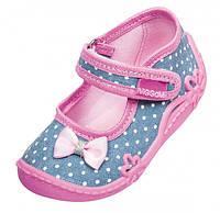 Текстильные туфли для девочки Viggami (Вигами) Польша р.18-27 Agatka kropki
