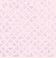 """Дизайнерская бумагаДамаск с глиттером из набор """"Мереживо весни"""", размер 30х30 см"""