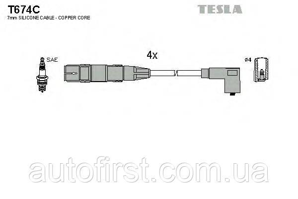 Tesla T674C Высоковольтные провода Audi, VW, Seat, Skoda