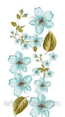 """Карточки для вырезания текстурные """"Чайная роза"""" цвет бирюза 30х13см поштучно"""