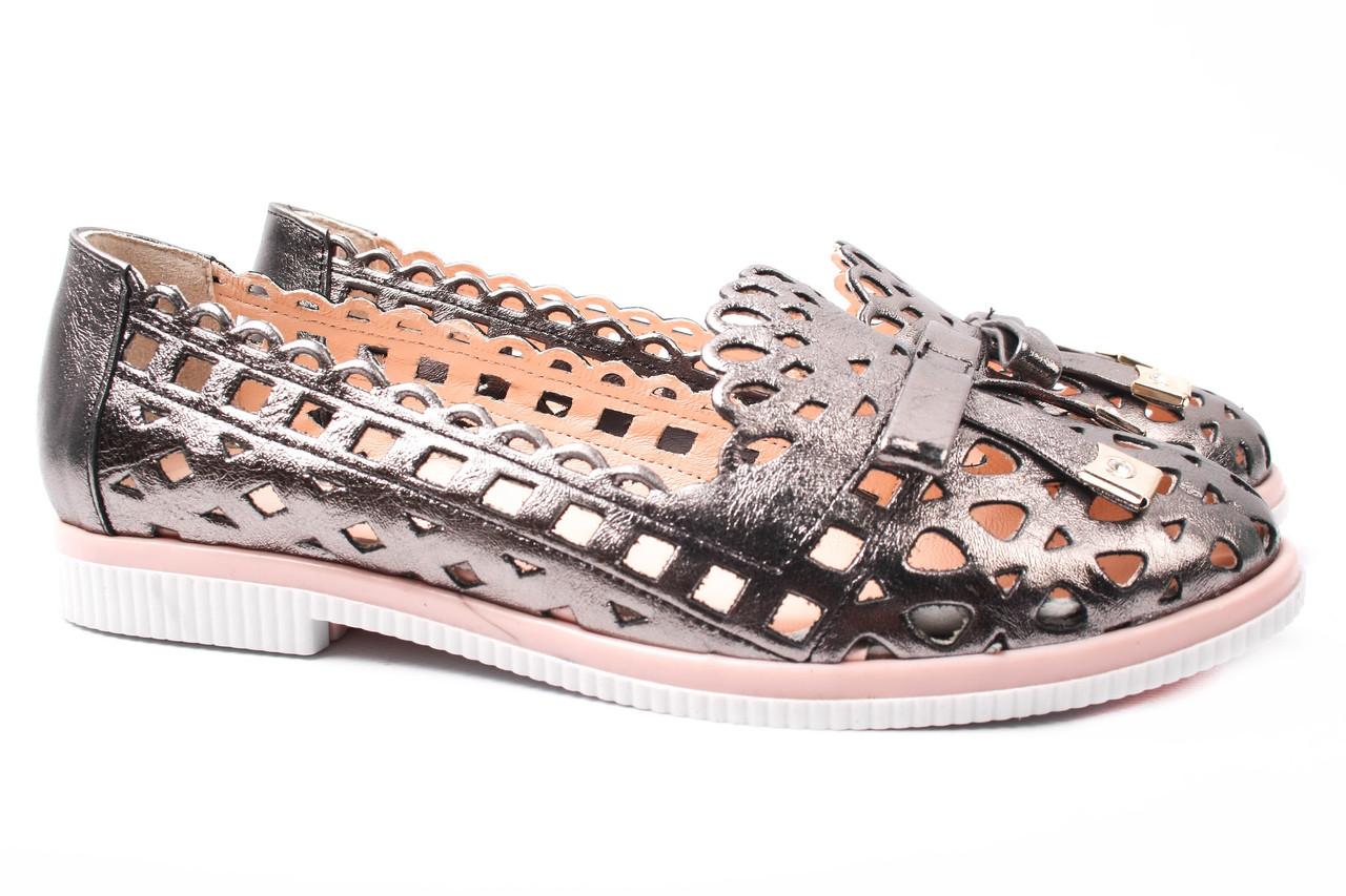 Туфли женские Euromoda натуральная кожа, цвет бронза (каблук, стильные, комфорт, лето, Турция)