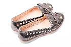 Туфли женские Euromoda натуральная кожа, цвет бронза (каблук, стильные, комфорт, лето, Турция), фото 5