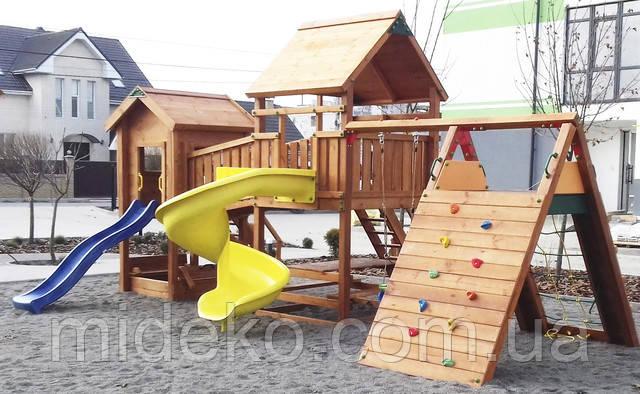 деревянные детские площадки