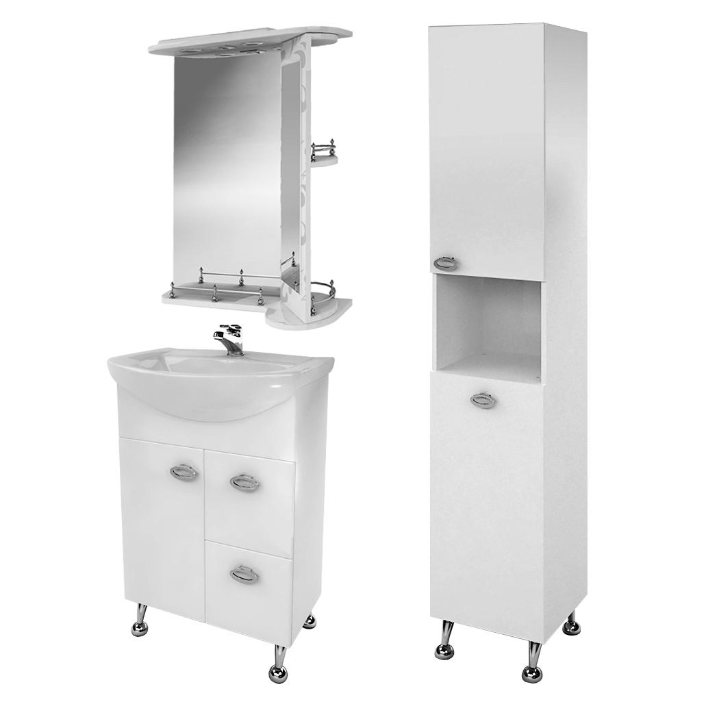 Комплект мебели для ванной комнаты Жемчуг 3-60-3-60 ВанЛанд