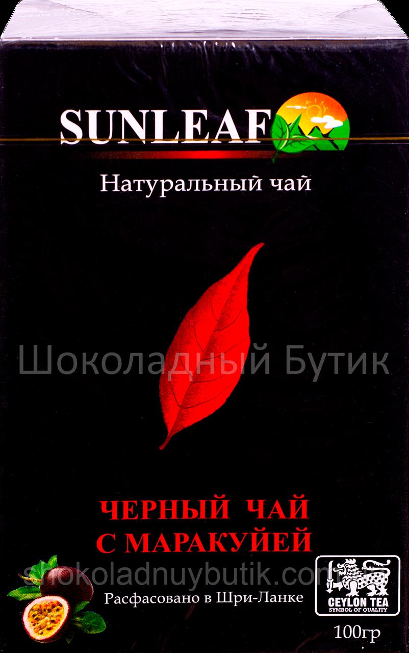 Чай SUNLEAF, черный с маракуйей, 100г.