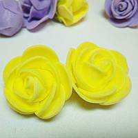 Роза из фоамирана. 2,5 см
