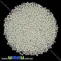 Бисер мелкий, 12/0, Белый АВ прокрашенный, 2 мм, 25 г. (BIS-009081)