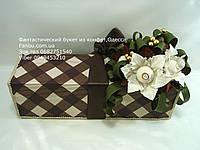 """Коричневая подарочная коробочка со сладостями и кофем""""Давидофф"""""""", фото 1"""