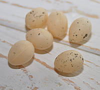 Яйца крем пластик набор 6 шт 2,3*1,7 см