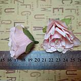 Розочка прованс. Цвет лососевого 4,5 см, фото 3