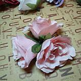 Розочка прованс. Цвет лососевого 4,5 см, фото 2