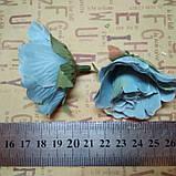 Розочка прованс. Цвет голубой 4,5 см, фото 2