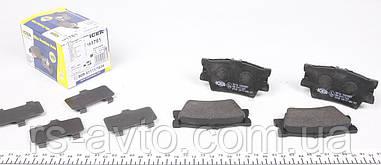 Колодки тормозные (задние) Toyota Camry, Rav4 2.0-2.5 06- (Akebono) 181761