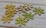 Цветочки деревянные *9 шт, фото 1