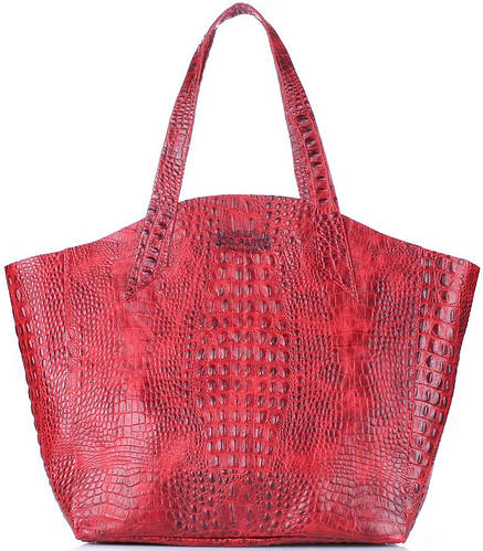 Женская сумка из натуральной кожи FIORE POOLPARTY poolparty-fiore-crocodile-red