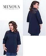 Блуза женская большого размера недорого Украина Минова р. 50-62, фото 1