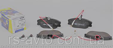 Колодки тормозные (передние) Fiat Scudo, Фиат Скудо 2.0JTD 96- (Lucas - Girling), (с датчиками) 141046-700
