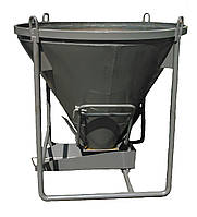 Бункер конусный для бетона БН -0,75 (V-0,75 куб.м, 170 кг, 1530/1530/1350), фото 1