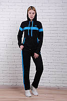 Костюм женский спорт adidas манжет с капюшоном полу батал (деми)