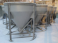 Бункер конусный БН -1.5 (V-1.5 куб.м, 210 кг, 1530/1530/1900), фото 1