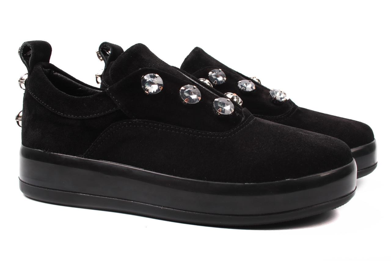 Туфли женские Donna Ricco натуральный замш, цвет черный (платформа, стильные, комфорт, Турция)