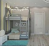 Кровать домик деревянный в комплекте с матрасом, фото 2