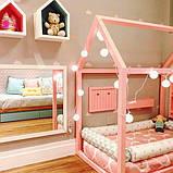 Кровать домик деревянный в комплекте с матрасом, фото 3