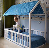 Кровать домик деревянный в комплекте с матрасом, фото 8