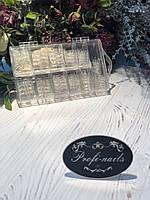 Типсы  хрустальные  длинные  прозрачные  в упаковке Lady victory  100шт