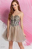 Пышное платье-бандо Gepur 25057